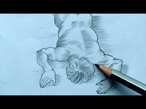 How To Draw A Person Lying On The Floor.