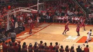 Illinois Basketball Highlights vs Bradley 11/17/13