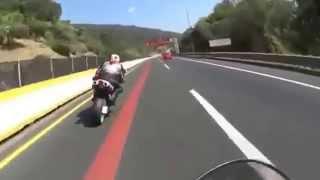 TERRIBLE accidente, Motociclista provoca accidente de otro motociclista y fallece