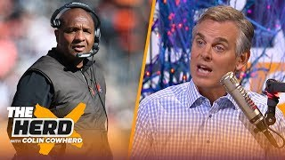 colin reacts to reports the browns have fired hue jackson and todd haley nfl the herd