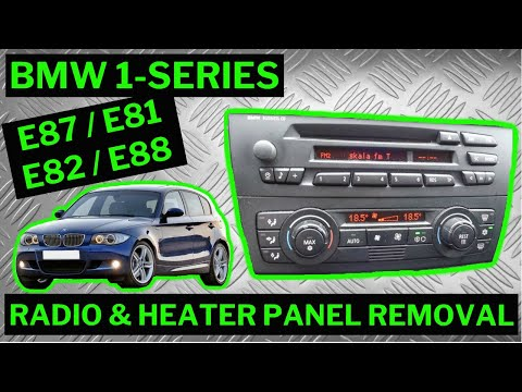 BMW 1SERIES E87  Climate Control  Stereo Removal  YouTube