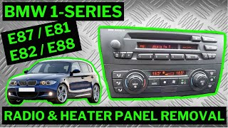BMW 1-SERIES E87 - Climate Control / Stereo Removal