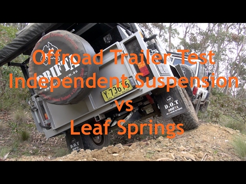 Trailer Suspension Test - Independent vs Leaf Springs
