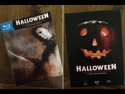 Halloween Blu Ray Box Set.Halloween Complete Collection Deluxe Limited Edition Blu Ray Unboxing Sneak Peek