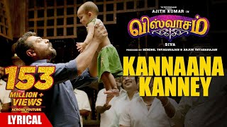 Kannaana Kanney Song with Lyrics | Viswasam Songs | Ajith Kumar,Nayanthara | D.Imman|Siva|Sid Sriramwidth=