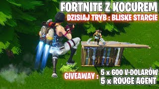 FORTNITE-TODAY GIVEAWAY 5 x 600 V-Bucks, PLUS CLOSE CLASHES-PLAY with KOCUREEM, I play with viewers.