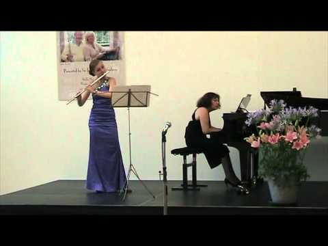 Denisov Sonata for flute and piano, Irina Stachinskaya