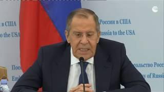 Пресс-конференция Сергея Лаврова по итогам встречи с Трампом