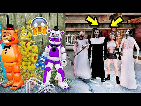 ANIMATRONICS PODEM VENCER A GRANNY, SLENDRINA, FREIRA JUNTAS? | GTA V Five Nights at Freddy's thumbnail