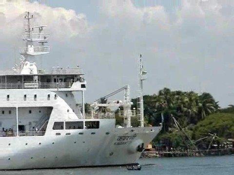 Ship Entering Kochi Harbour