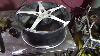 видео ремонт литых дисков