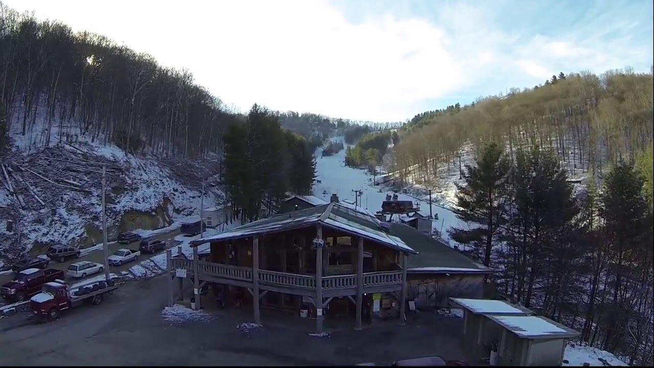 wolf ridge ski resort aerial tour and trail map - youtube