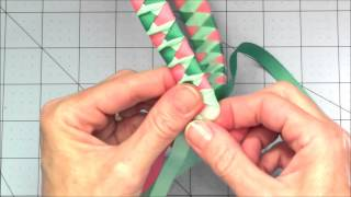 Repeat youtube video Woven Ribbon Headband with a Twist Tutorial