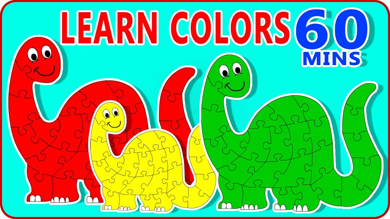 Learn Colours With Dinosaurs Cartoons | Learn Colors With Dinosaur ...