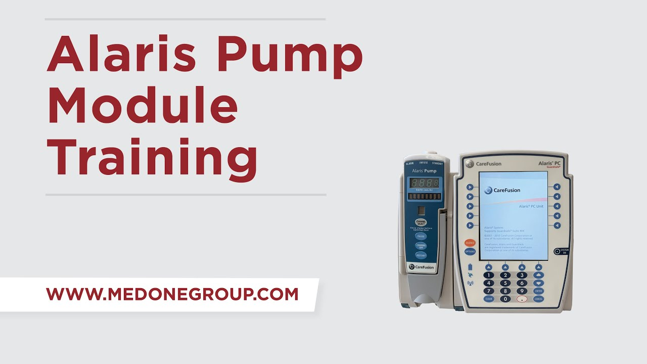 Alaris 8100 Pump Module Training