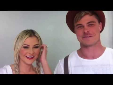 Bobby and Karlien Van Jaarsveld at home
