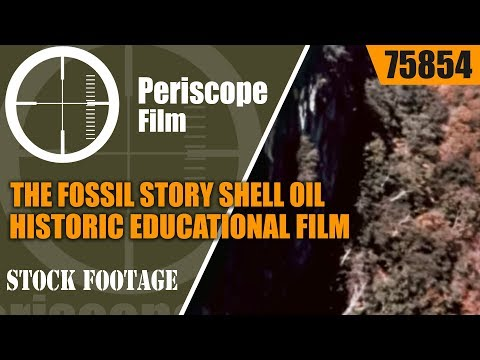 THE FOSSIL STORY  SHELL OIL HISTORIC EDUCATIONAL FILM 75854