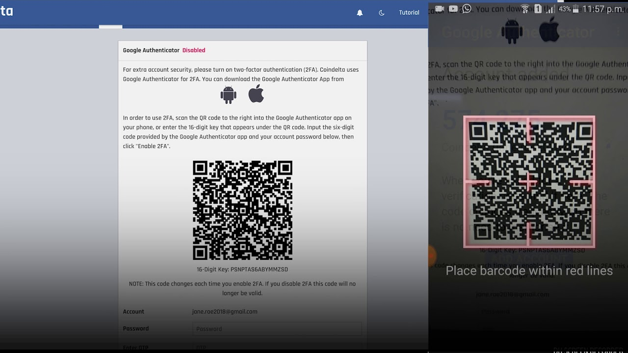 Two-Factor Authentication on Koinex & Coindelta - All you