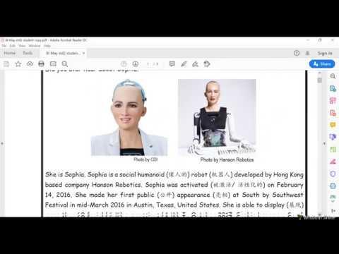 """智阳 2年级 """"启发"""" @ 27/5/2020 英文 阅读日:Unit 8 - The Robot"""