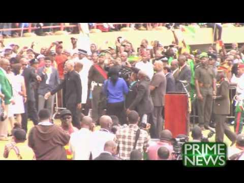 Sir Shridath at President's Inauguration