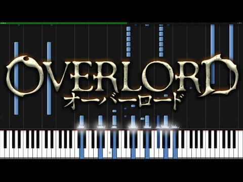 Clattanoia - Overlord (Opening) [Piano Tutorial] (Synthesia) // KimPianime
