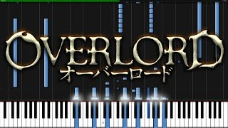 Clattanoia - Overlord (Opening) [Piano Tutorial] (Synthesia) // KimPianime thumbnail