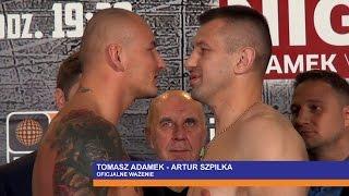 Adamek vs Szpilka: Oficjalne ważenie HD   ::: Adamek vs Szpilka