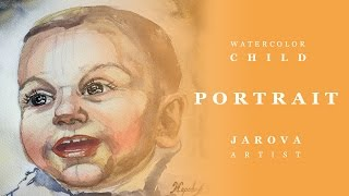 DIY HOW to PAINT PORTRAIT. FREE ART LESSON. Part 1 + 2 Portrait of a Child WATERCOLOR. Online art