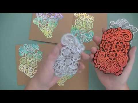DIY Foam stamp stamped images die cut using the same die cut die