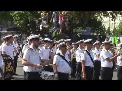 14 juillet 2013, la Musique de la Flotte Toulon place de la Nation