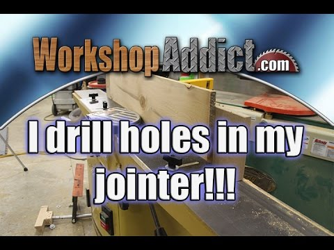 Woodworking: Jointer Infeed & Outfeed Table Modification Solid Feather Boards