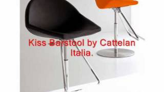 Modern Barstools, Designer Kitchen Counter Stools, Swivel Metal And Wood Counter Bar Stools.