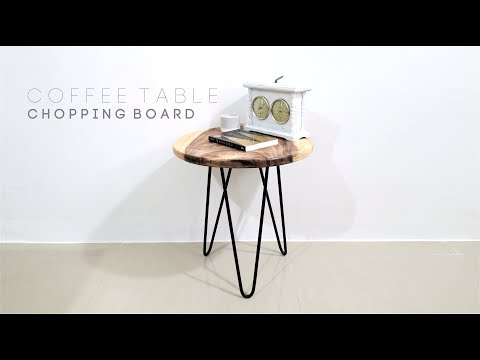 DIY Coffee Table/Side Table Using Chopping Board