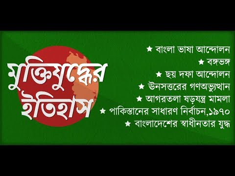 মুক্তিযুদ্ধের ইতিহাস ~ History of Bangladesh Liberation War 1971