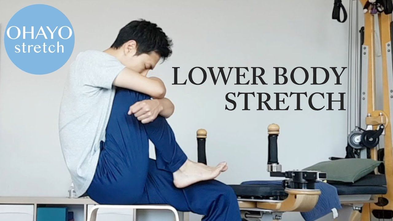 "Ohayo 1 min stretching ""Lower back"" on youtube!"