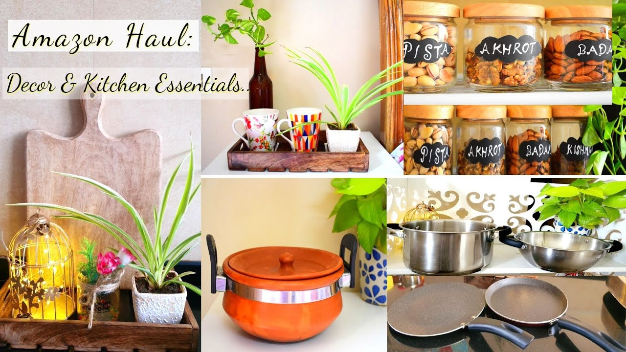 Huge Amazon Haul Decor Kitchen Essentials Affordable Rental Friendly Home Decor Products Youtube