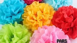 How to make Small Paper Pom Pom easy