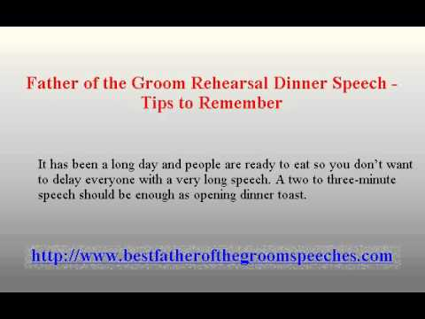 Father Of The Groom Rehearsal Dinner Speech Tips To Remember