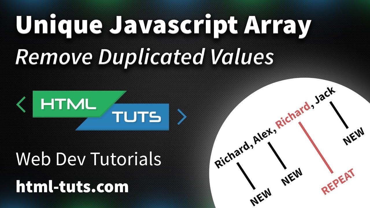 Unique JavaScript Array (Remove Duplicated Values)
