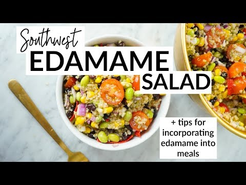 Southwest Edamame Salad // VEGAN + PROTEIN-PACKED