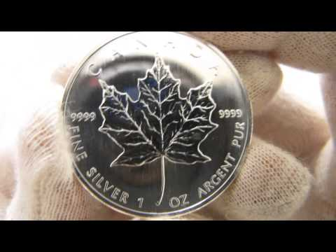 [HD] The Canadian Maple Leaf - 1 oz Silver Bullion Coin - Royal Canadian Mint