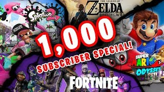*1,000 SUBSCRIBER SPECIAL* LIVESTREAM!! Giveaways, Fortnite, Zelda, Splatoon 2 + Q&A!!