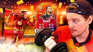 THE SWEATIEST FIFA CARD?! 85 HEADLINERS ADAMA TRAORE PLAYER REVIEW! FIFA 20 Ultimate Team
