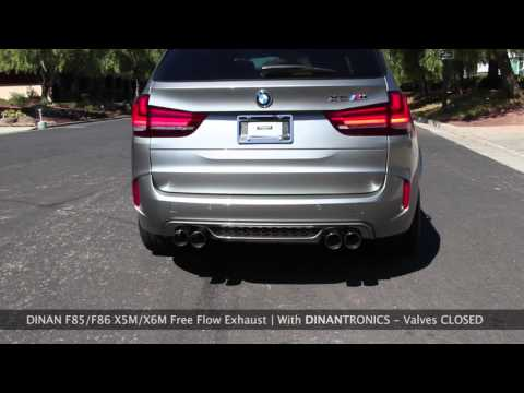F85/F86 X5M X6M Dinan Exhaust Comparison - With and Without