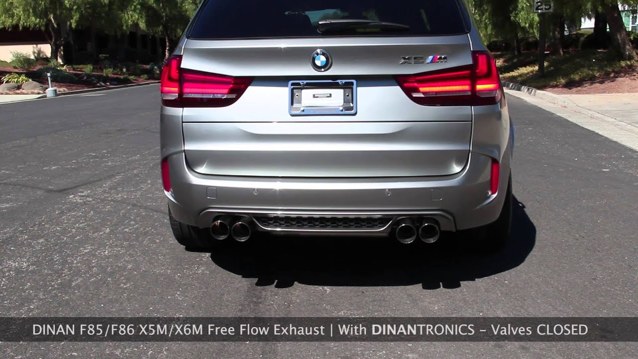 F85/F86 X5M X6M Dinan Exhaust Comparison - With and Without DinanTronics