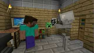 The Friendly Skeleton - A Minecraft Machinima