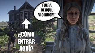 Red Dead Redemption 2-¿Cómo visitar a la chica de Emerald Ranch DENTRO de su habitación? (M. Wegner)