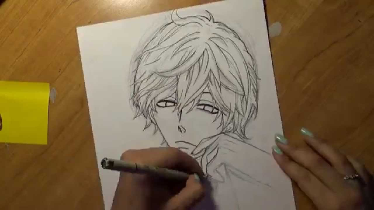 Drawing Sata Kyouya Ookami Shoujo To Kuro Ouji YouTube