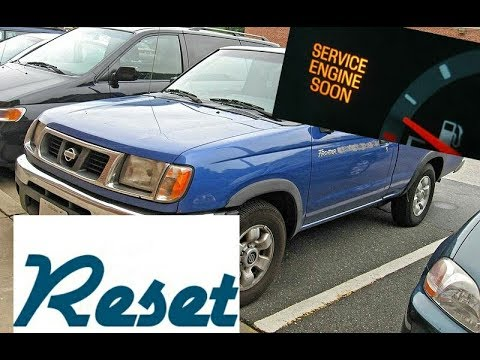 How To Reset Service Engine Soon Light On A 1998 Nissan Frontier Youtube