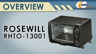 Rosewill RHTO-13001 6 Slice Black Toaster Oven Broiler with Drip Pan Overview - Newegg Lifestyle